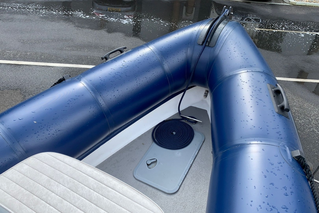1643 - XS650 RIB with Mercury 150 engine and trailer - Bow area