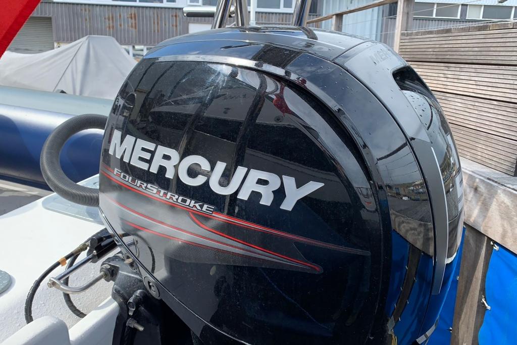 1643 - XS650 RIB with Mercury 150 engine and trailer - Mercury logo