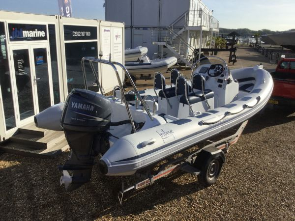 1439 - ribeye a600 rib with yamaha f100detl engine and trailer - starboard aft quarter_l