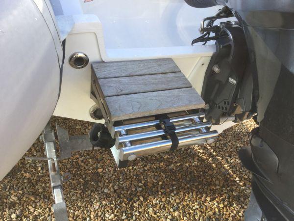 1439 - ribeye a600 rib with yamaha f100detl engine and trailer - swim ladder_l