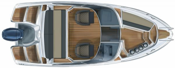 finnmaster 55 bow rider with yamaha engine - layout diagram from above_l