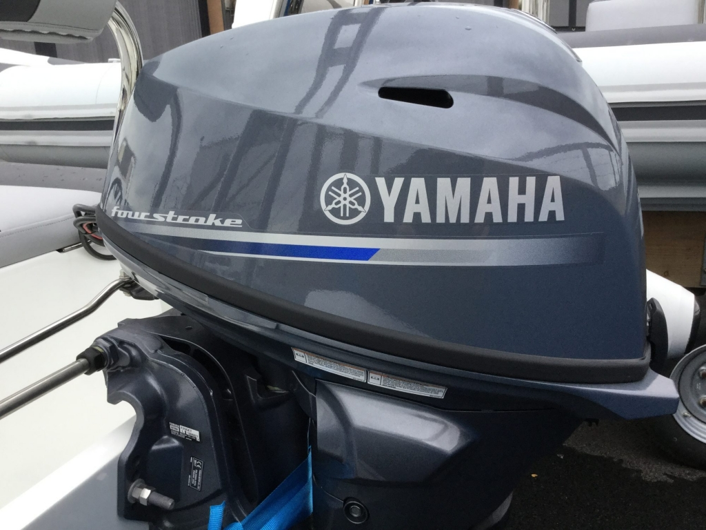 Stock - 1487 - Ballistic 4.3 RIB with Yamaha F25F engine and trailer - Engine cowling