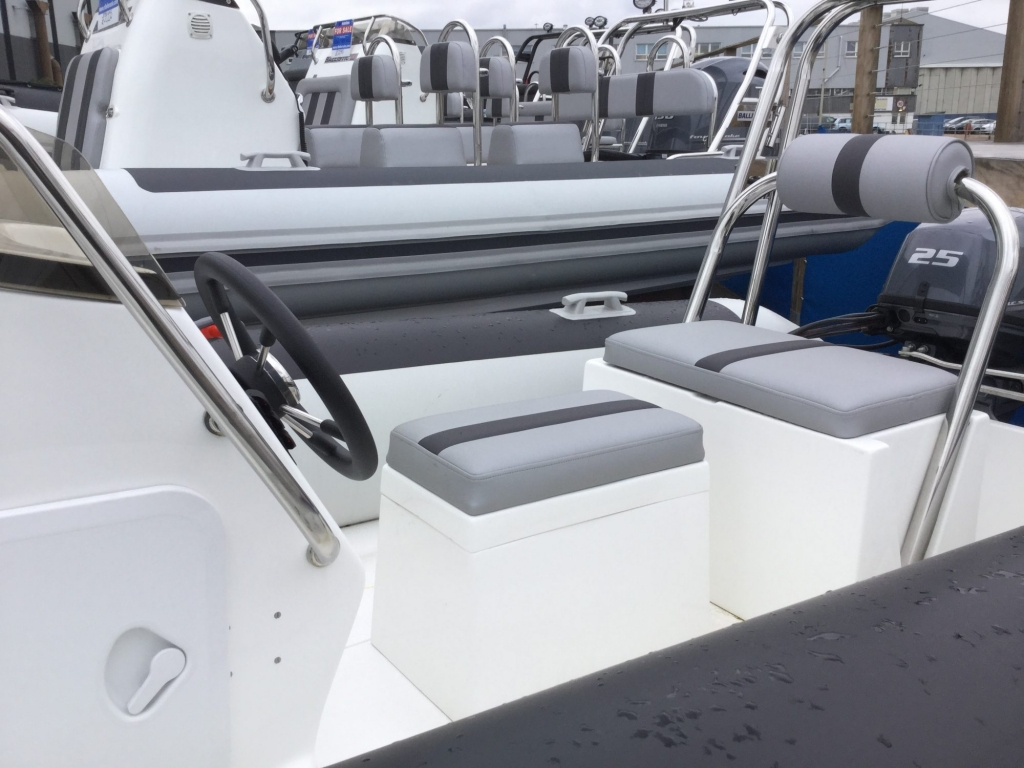Stock - 1487 - Ballistic 4.3 RIB with Yamaha F25F engine and trailer - Helm seating