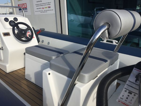 1423 - ballistic 4.3m rib with yamaha f25hp outboard engine and trailer - rear bench seat(1)_l