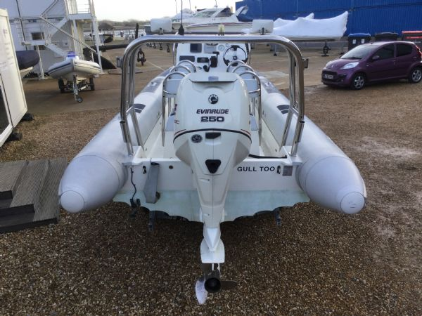 1435 - ballistic 7.8m rib with evinrude 250hp outboard and trailer - aft 2_l