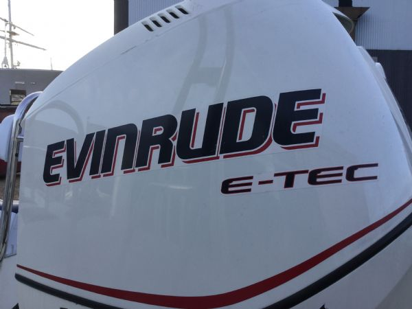 1435 - ballistic 7.8m rib with evinrude 250hp outboard and trailer - emblem_l