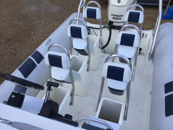 1435 - ballistic 7.8m rib with evinrude 250hp outboard and trailer - seats opn_l