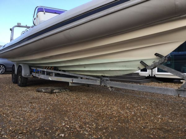 1435 - ballistic 7.8m rib with evinrude 250hp outboard and trailer - strb hull_l