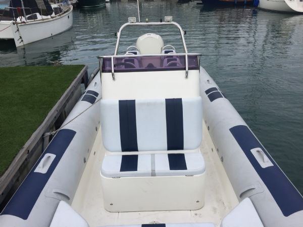 1435 - ballistic 7.8m rib with evinrude 250hp outboard engine - console seat and stern_l