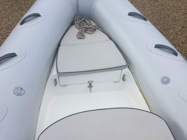 1436 - excel 470 rib with evinrude 60hp outboard engine and trailer - anchor locker_l