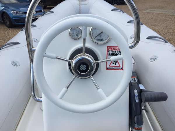 1436 - excel 470 rib with evinrude 60hp outboard engine and trailer - console_l