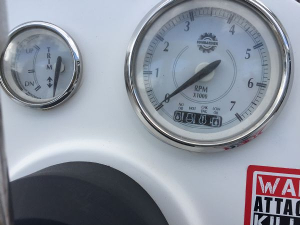 1436 - excel 470 rib with evinrude 60hp outboard engine and trailer - engine gauges_l