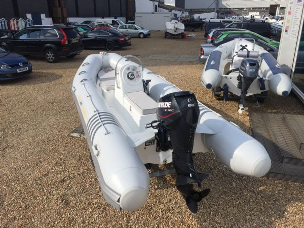 1436 - excel 470 rib with evinrude 60hp outboard engine and trailer - main stern_l