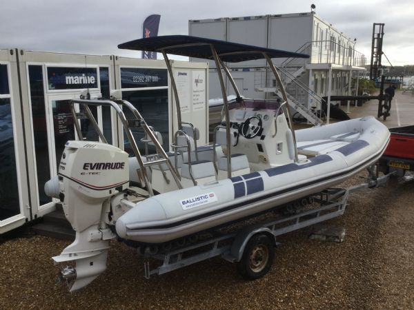 1410 - ballistic 6.5m rib with evinrude etec 175hp outboard engine and trailer - aft starboard quarter_l
