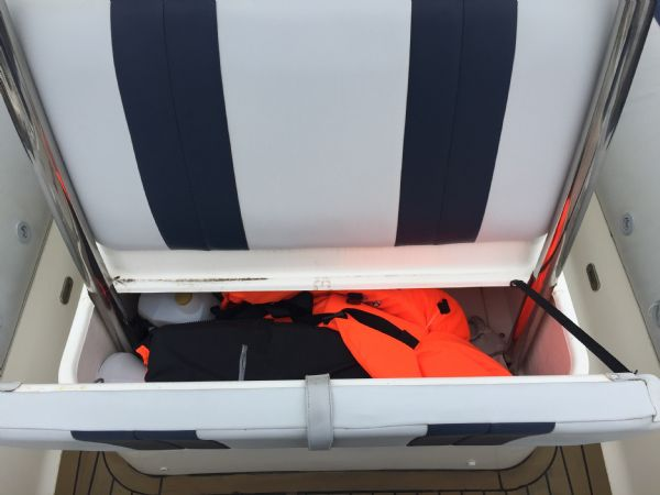 1410 - ballistic 6.5m rib with evinrude etec 175hp outboard engine and trailer - console seat locker_l