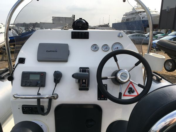 1431 - ribcraft 7.8m rib with suzuki 250hp outboard engine and trailer - console and electronics_l
