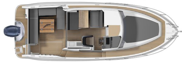 finnmaster pilot 8 with yamaha outboard engine - boat layout diagram_l