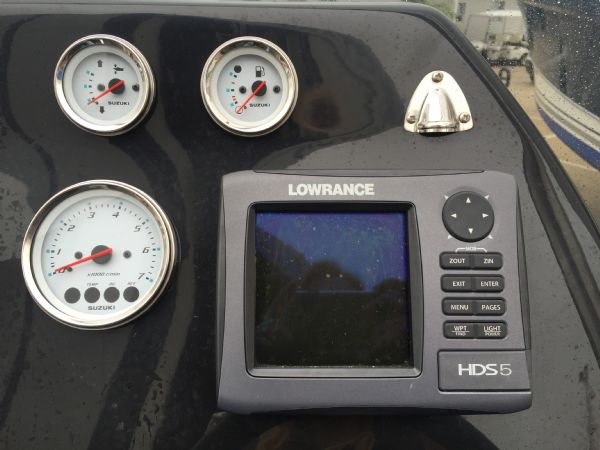 1434 - ribcraft 585 rib with suzuki 140hp outboard engine - lowrance gps and engine gauges_l