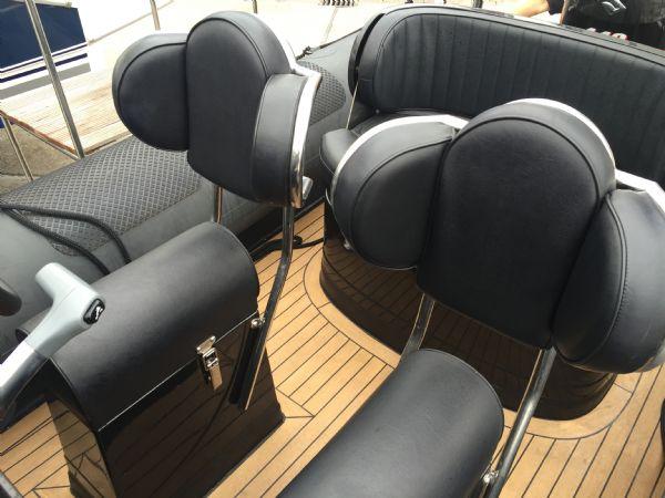 1434 - ribcraft 585 rib with suzuki 140hp outboard engine - winged jockey seats_l