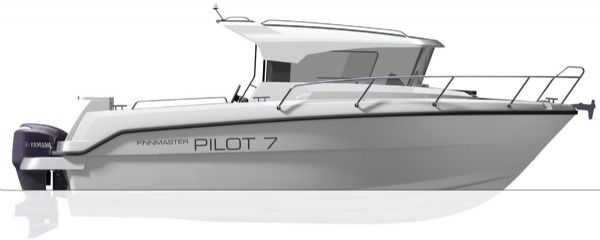 finnmaster pilot 7 with yamaha outboard engine - boat diagram from side_l
