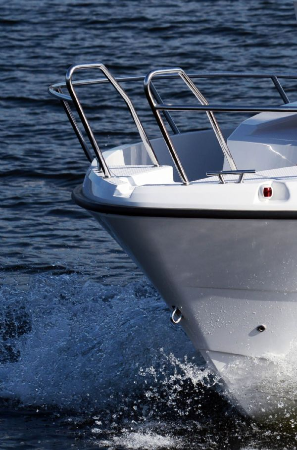 finnmaster pilot 7 with yamaha outboard engine - stainless steel handrails_l