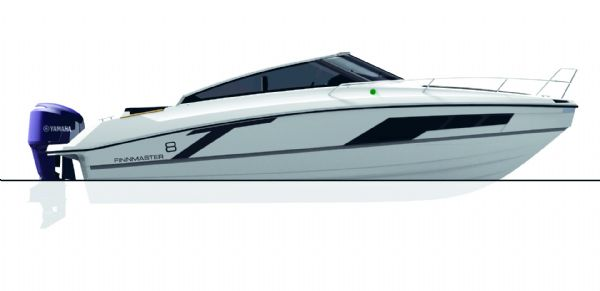 finnmaster t8 with yamaha outboard - boat side view diagram_l