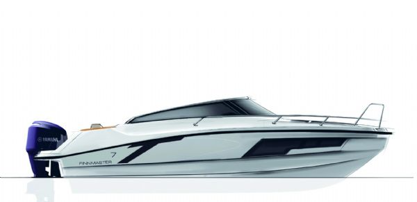 finnmaster t7 with yamaha outboard engine - boat side view diagram_l