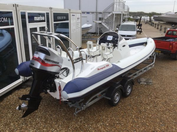 1429 - renegade 720 with mariner 150hp outboard engine and trailer - aft starboard quarter 2_l
