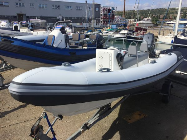 1425 - tornado 5.3m rib with mariner 75hp outboard engine and trailer - main bow_l