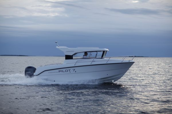 Click to see Finnmaster Pilot 7 Weekend Boat with Yamaha F150HP Outboard Engine