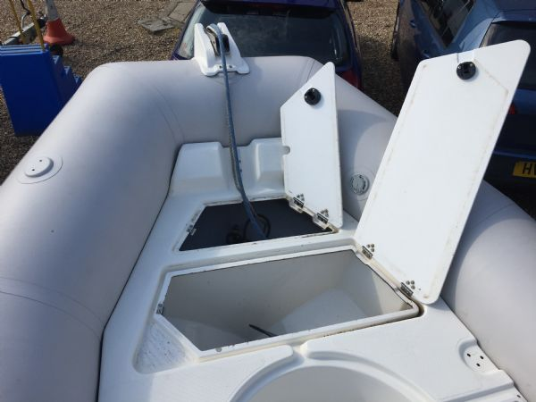 1409 - zodiac medline rib with mariner 60hp outboard engine and trailer - bow and anchor lockers_l