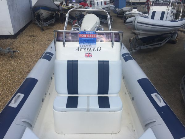 1419 - ballistic 7.8m rib with evinrude etec 250hp outboard engine and trailer - front console seat_l