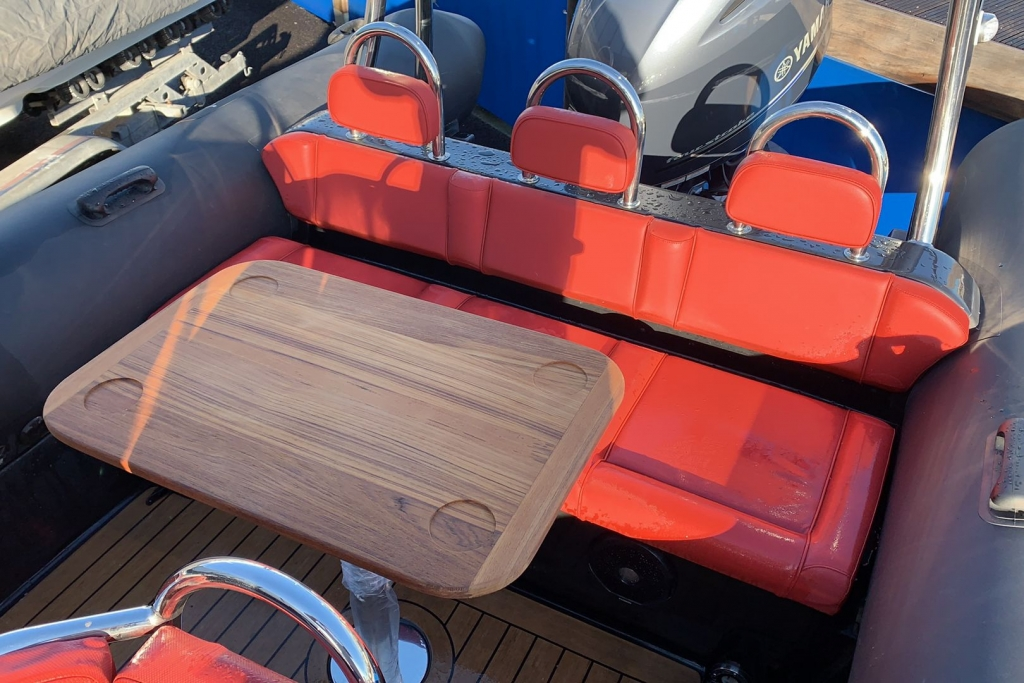 1635 - Brokerage - Ribeye 650S with Yamaha F200GET engine and trailer - Teak Picnic table