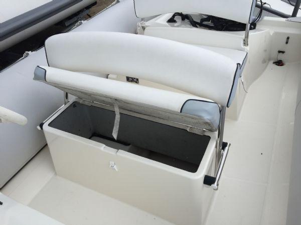 1393 - bombard 640 rib with suzuki 140hp outboard engine and trailer - front seat locker_l