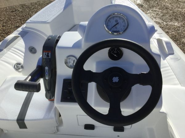 1406 - ballistic 3.4m rib with evinrude etec 40hp outboard engine and trailer - helm_l