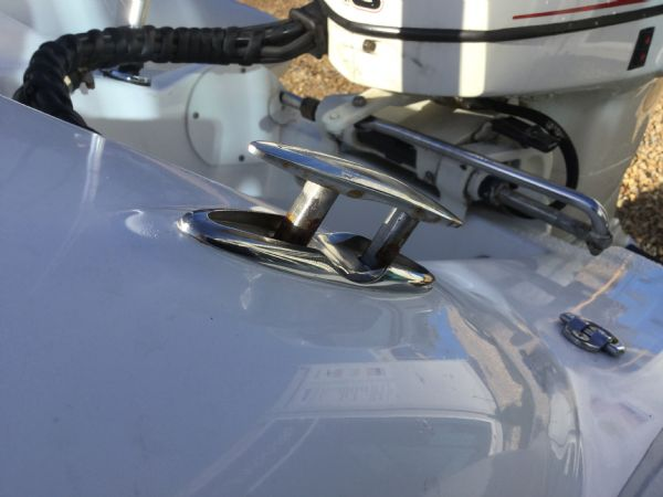 1406 - ballistic 3.4m rib with evinrude etec 40hp outboard engine and trailer - pop-up cleat_l