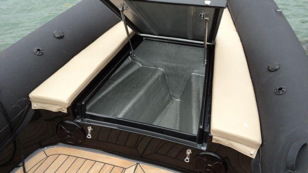 shearwater 890 rib for sale with mercury verado 300 outboard - bow locker_l