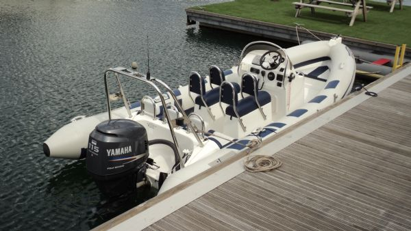 stock - 1386 - ribeye 600 rib for sale with yamaha f115aet engine - on water (rear)_l