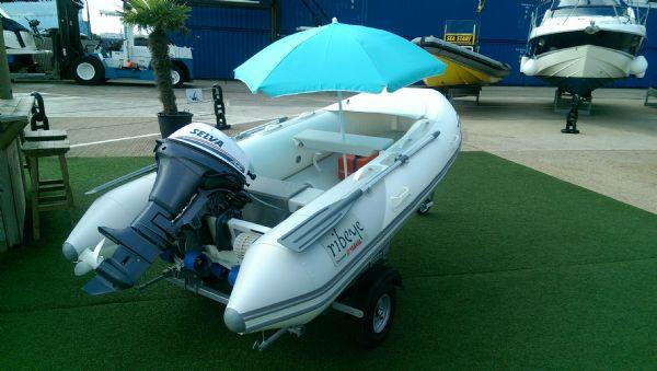 ribeye 310 rib whole boat stern with umbrella up_l