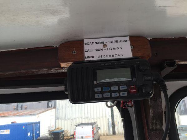 cygnus marine 21 fishing boat with beta 35hp diesel - vhf_l