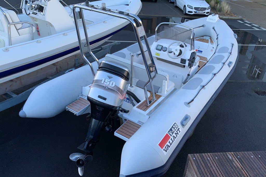 1624 - Stock - Valiant 620 RIB with MErcury Optimax 150 engine and trailer - Aft Starboard