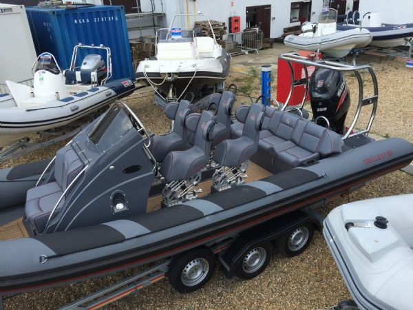 ribquest 7.3 rib with suzuki df250 and trailer - above_l