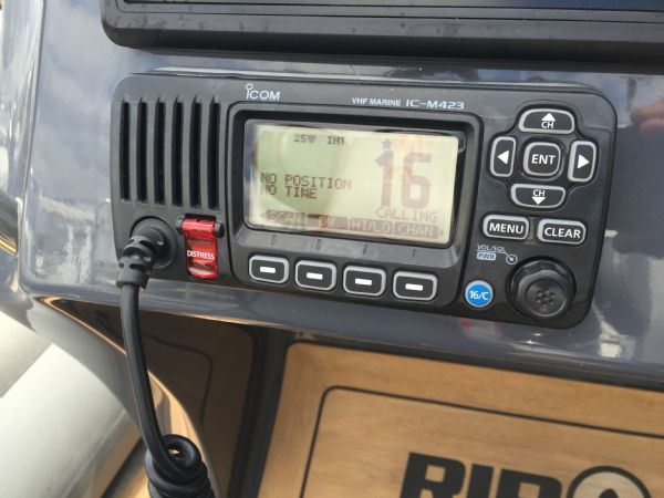 ribquest 7.3 rib with suzuki df250 and trailer - icom vhf_l
