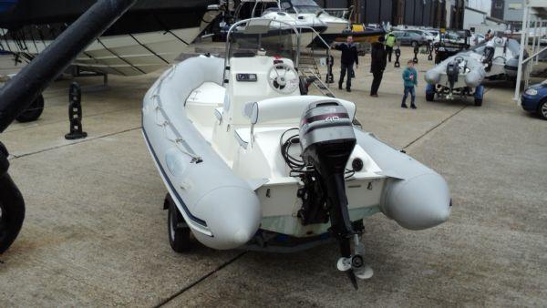 stock - 1291 - bombard 480 rib with mariner 40 two stroke - rear port quarter_l