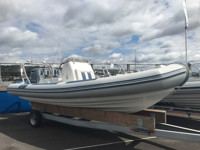 Click to see Used 2016 Ballistic 6.5 RIB with Yamaha F200GET engine and trailer