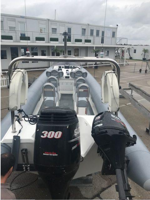 Brokerage -1610 Coastline 8.6m Rib with suzuki 300hp engine - Aft