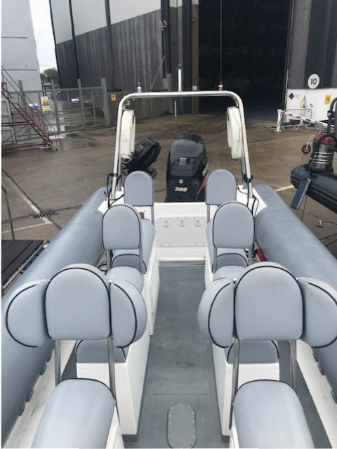 Brokerage -1610 Coastline 8.6m Rib with suzuki 300hp engine - cockpit 2