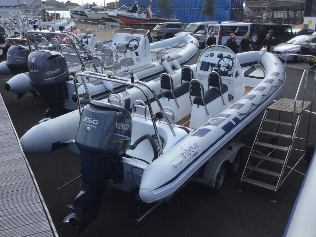 Stock - 1599 -Ribeye 785S RIB with Yamaha F250 engine and trailer - aft strbrd