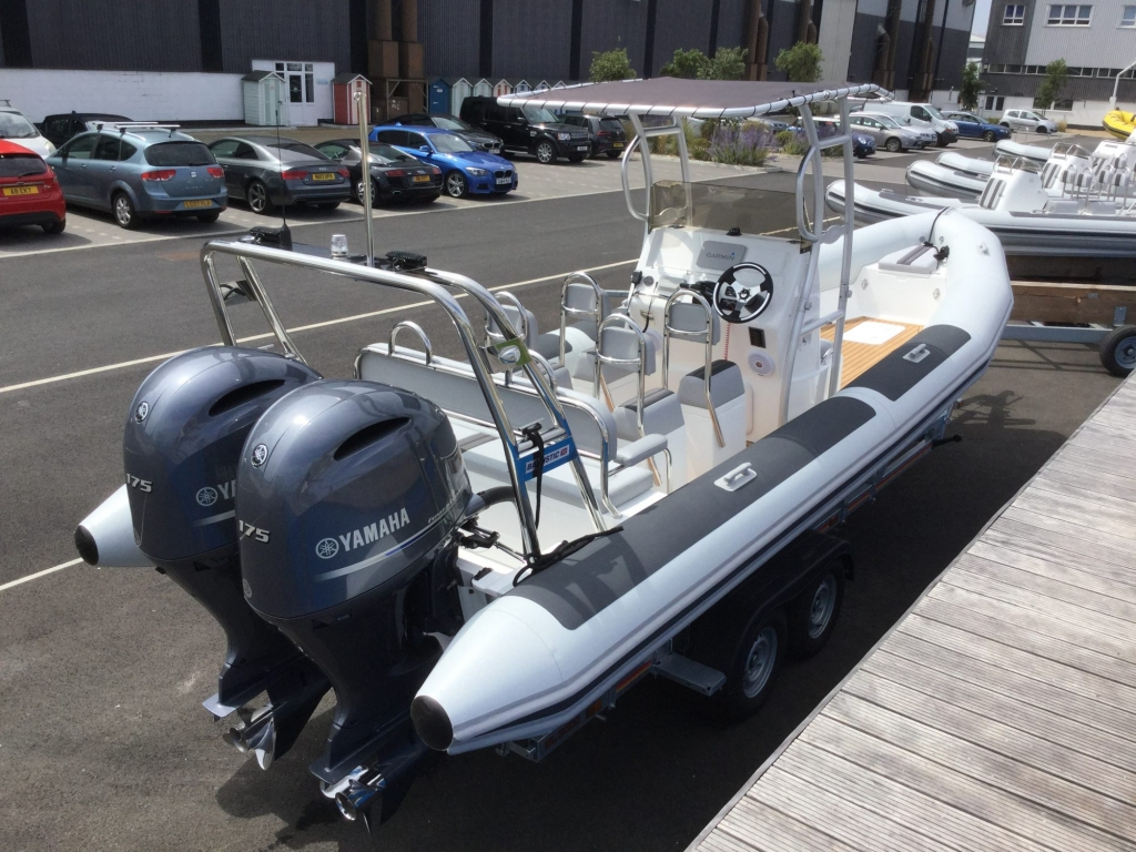 Custom - Ballistic 7.8 RIB with twin Yamaha F175CETX engines - Aft Strbrd