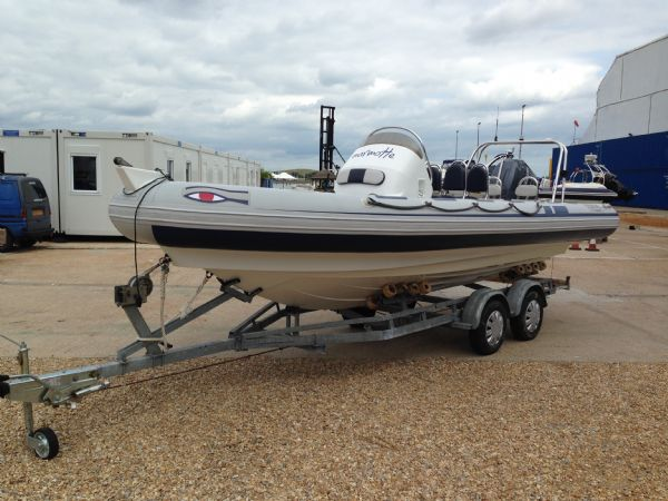 ribeye 650 rib with yamaha f150 and roller trailer - main 2_l